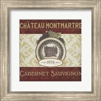 Framed Burgundy Wine Labels II