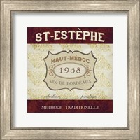 Framed Burgundy Wine Labels III