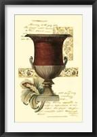 Transitional Urn I Framed Print