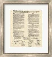 Framed Constitution Document