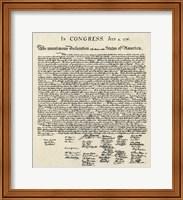 Framed Declaration of Independence Doc.