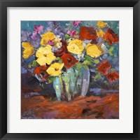 Framed Floral Kaleidoscope I