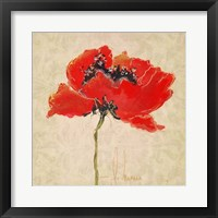 Framed Vivid Red Poppies III