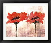 Framed Vivid Red Poppies V