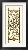 Verdigris Panel I Framed Print