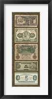 Framed Foreign Currency Panel I