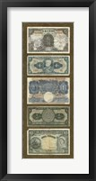 Framed Foreign Currency Panel II