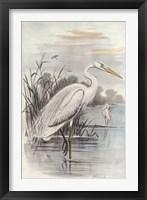 Framed Oversize White Heron