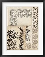 Lace Sketchbook I Framed Print