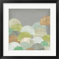 Scalloped Landscape I Framed Print
