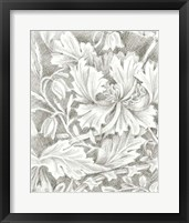 Framed Floral Pattern Sketch I