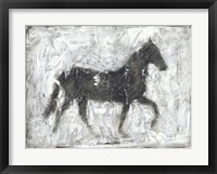 Equine Silhouette I Framed Print