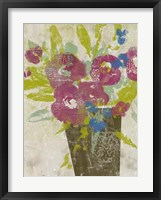 Bouquet Collage II Framed Print