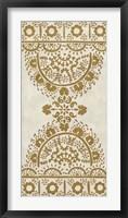 Ochre Embroidery I Framed Print