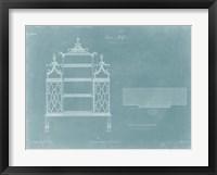 China Shelf Framed Print