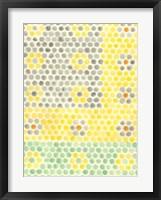 Framed Floral Linoleum I