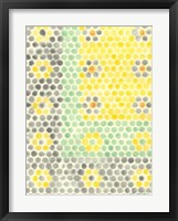 Framed Floral Linoleum II