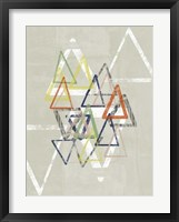 Stamped Triangles II Framed Print