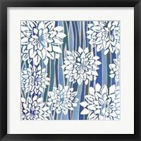 Striped Dahlias I Framed Print