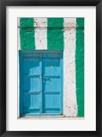 Framed Oman, Sharqiya Region, Asaylah. Coffee Shop Exterior