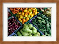 Framed Asia, Singapore. Fresh produce for sale at street market