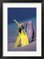 Framed Indian Ocean, Maldive islands, Snorkel gear