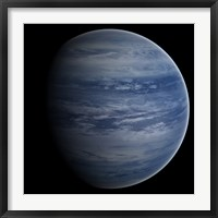 Framed Artist's concept of a blue-white gas giant planet
