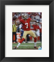 Framed Colin Kaepernick 2014 Throw