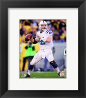 Framed Andrew Luck 2014 white jersey
