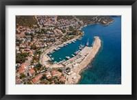 Framed Kas Harbor, Aerial, Antalya, Turkey