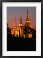 Framed Wat Phra Si Sanphet Temple , Ayutthaya, Thailand