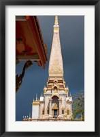 Framed Wat Chalong Buddhist Monastery, Phuket, Thailand