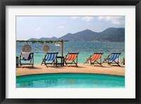 Framed Swimming pool, Gulf of Thailand at Chaweng beach, Ko Samui, Thailand