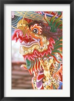 Framed Thailand, Bangkok Dragon in chinese temple