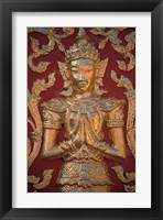 Framed Gold Leafed Deatil at Wat Doi Suthep, Chiang Mai, Thailand