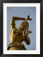 Framed Golden Deity Sculpture, Thailand
