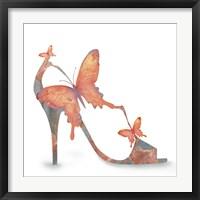 Framed Butterfly Shoe Swirl