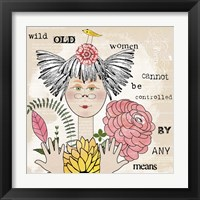 Framed Wild Old Woman I