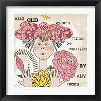 Framed Wild Old Woman II