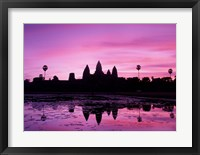 Framed View of Temple at Dawn, Angkor Wat, Siem Reap, Cambodia