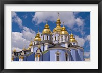 Framed St Michaels Cathedral, Kiev, Ukraine