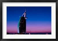 Framed Sunset at the Burj Al Arab, Dubai, United Arab Emirates