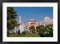 Framed Hagia Sophia Mosque, Istanbul, Turkey