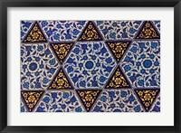 Framed Tile Inside Topkapi Palace, Istanbul, Turkey