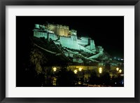 Framed Potala at Night, Lhasa, Tibet