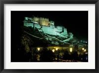 Framed Potala at Night, Lhasa, Tibet