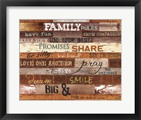 Framed Family Rules