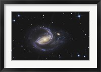 Framed NGC 1097, Barred Spiral Galaxy in the Constellation Fornax