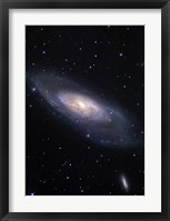 Framed Messier 106, A Spiral Galaxy in the Constellation Canes Venatici