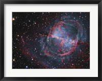 Framed Close up of The Dumbbell Nebula